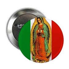 Virgen de Guadalupe - Mexican Flag Button
