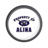 Property of alina Wall Clock