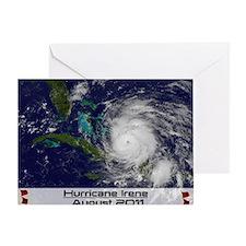 Hurricane Irene poster Greeting Card