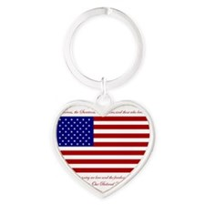 HonoringSept11 Heart Keychain