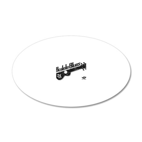 Ukulele Blues 20x12 Oval Wall Decal