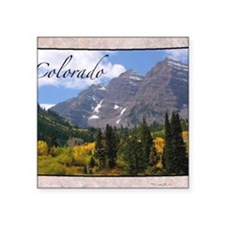 "ColoradoMap28 Square Sticker 3"" x 3"""