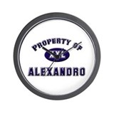 Property of alexandro Wall Clock