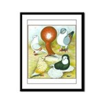 Pigeon Color Book Framed Panel Print