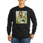 Pigeon Color Book Long Sleeve Dark T-Shirt