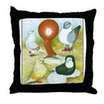 Pigeon Color Book Throw Pillow