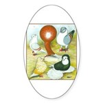 Pigeon Color Book Oval Sticker