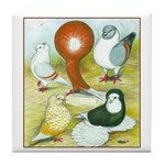 Pigeon Color Book Tile Coaster