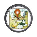 Pigeon Color Book Wall Clock