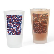 American Camo Drinking Glass