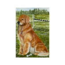 golden obedience Rectangle Magnet