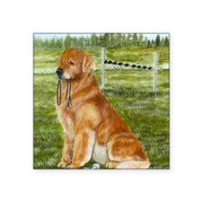 "golden obedience Square Sticker 3"" x 3"""