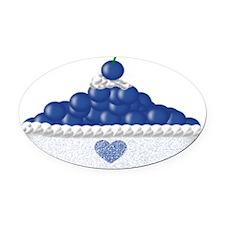 bluedlap Oval Car Magnet