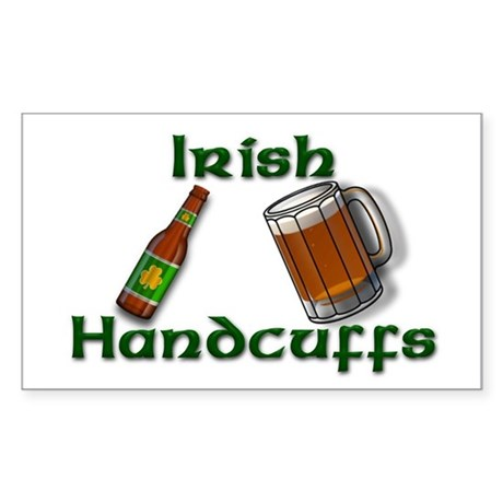Irish Handcuffs Rectangle Sticker