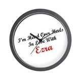 In Love with Ezra Wall Clock