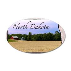 North Dakota 35x21 Oval Wall Decal