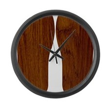 Wood Large Wall Clock