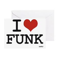 I love Funk Greeting Card