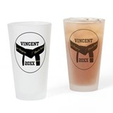 Black belt Pint Glasses