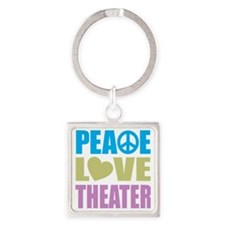 peacelovetheater Square Keychain