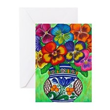 Pansy Parade Greeting Card - Pack of 10