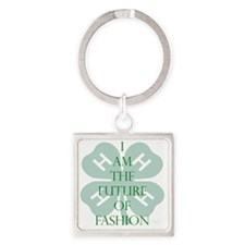 Future of Fashion 4H Square Keychain