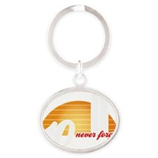 Never-Forget-Sun-w Oval Keychain