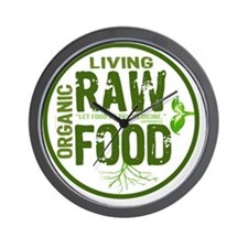 RAWFOODBUTTON2 Wall Clock