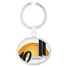 Never-forget-Sun-2 Oval Keychain