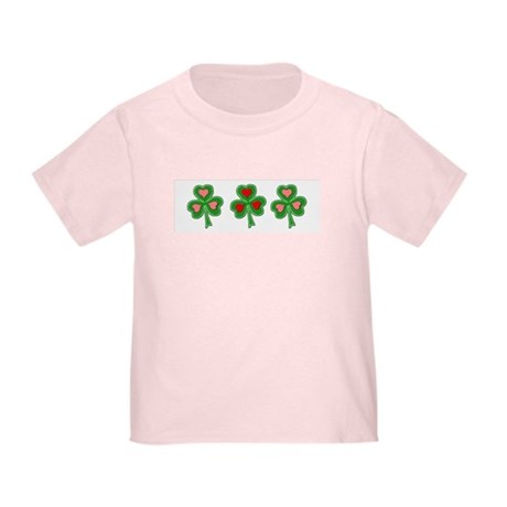 Shamrocks (Pink and Red Hearts) Toddler T-S