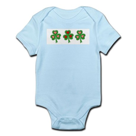 Shamrocks (Pink and Red Hearts) Infant Bodysuit