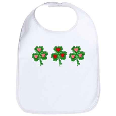Shamrocks (Pink and Red Hearts) Bib