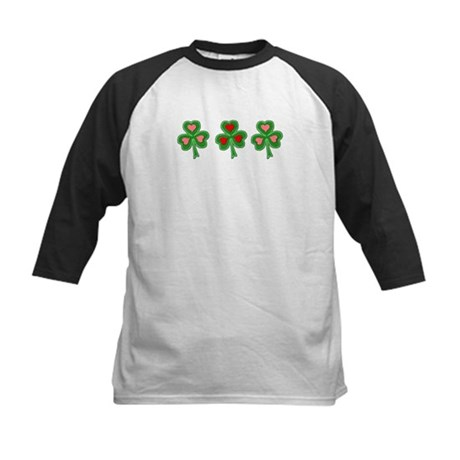 Shamrocks (Pink and Red Hearts) Kids Baseball Jers