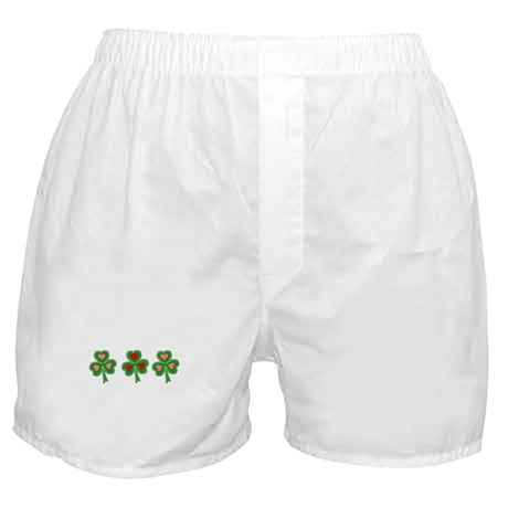 Shamrocks (Pink and Red Hearts) Boxer Shorts