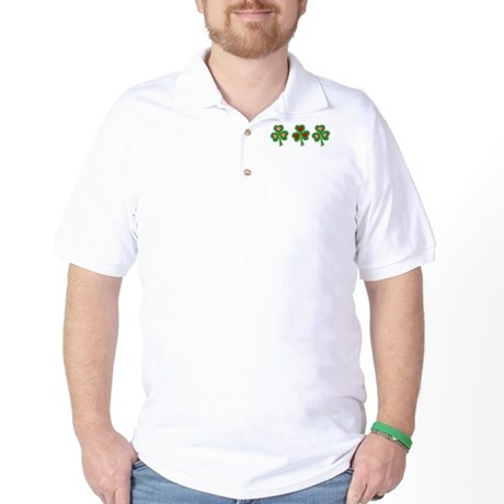 Shamrocks (Pink and Red Hearts) Golf Shirt