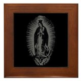 Virgin of Guadalupe - Gray Framed Tile