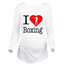 I-Heart-Boxing-Punch Long Sleeve Maternity T-Shirt