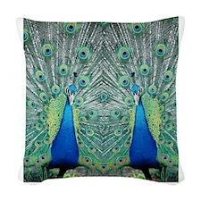 peacockflips Woven Throw Pillow