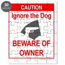 Beware Dog and Owner J Puzzle