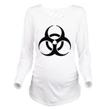 biohazard Long Sleeve Maternity T-Shirt
