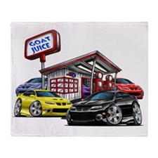 2004 GTO Gas Station black car Throw Blanket