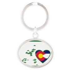 Colorado_v2 Oval Keychain