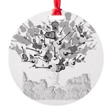 guitar tree white Ornament
