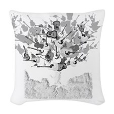 guitar tree white Woven Throw Pillow