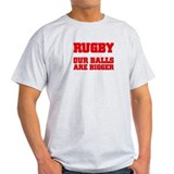 Rugby bigger balls Ash Grey T-Shirt