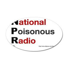 NPRadio 35x21 Oval Wall Decal