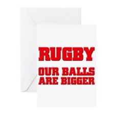 Rugby bigger balls Greeting Cards (Pk of 10)
