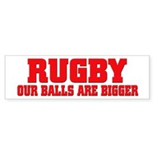 Rugby bigger balls Bumper Car Sticker