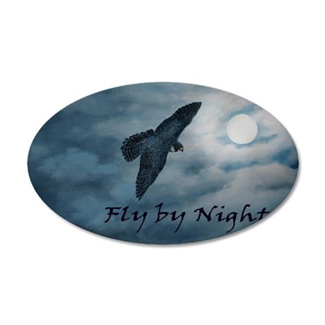 moon-falcon-laptop 35x21 Oval Wall Decal