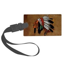 First Nations Chief Luggage Tag